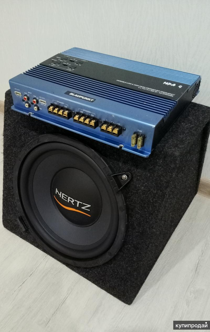 Сабвуфер Hertz 300 / Усилитель Blaupunkt MPA 4
