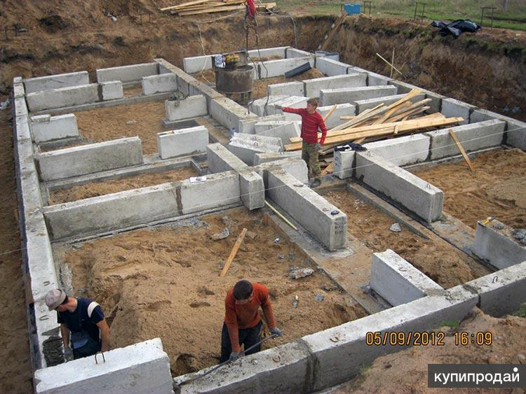 Монтаж фундамента Пенза, фундаментные работы для дома, коттеджа