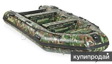 Лодка NISSAMARAN 380 - ЗЕЛЁНЫЙ КАМУФЛЯЖ.