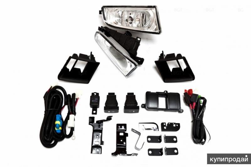 Противотуманные фары для Honda CIVIC 4D (2006-09) с проводами и кнопкой