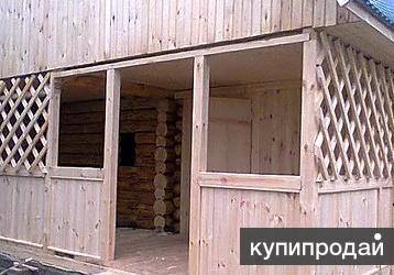 Строительство дачных домов ,бань ,беседок из зимнего леса.