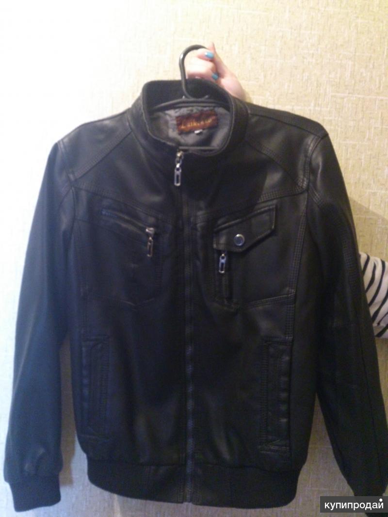 Куртка кожзам детская
