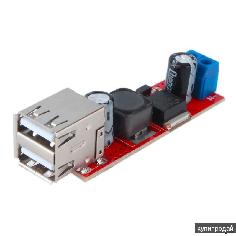 Универсальный USB-преобразователь электроэнергии (DC-DC Step-down 6-40 В в 5 В)