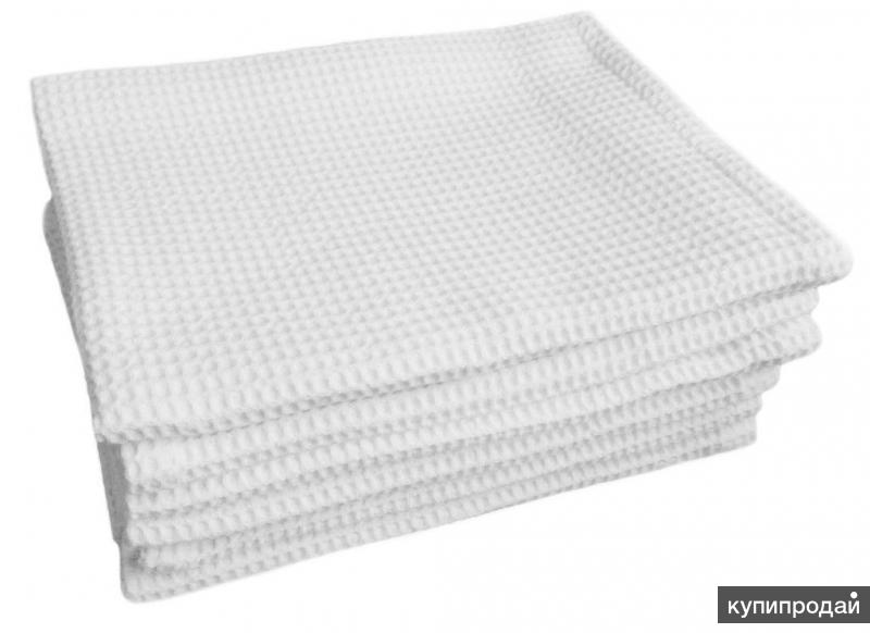 Вафельное полотенцо отбеленное