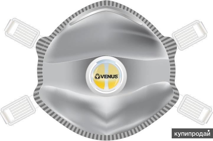 Venus V-27350 SLOV Полумаска фильтрующая с клапаном для сварочных работ FFP3 (до