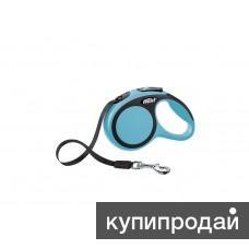 Рулетка-ремень для собак до 12кг, 3м, голубая, New Comfort XS Tape 3 m
