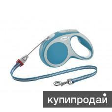 Рулетка-трос для собак до 20кг, 5м, бирюзовая, VARIO M cord 5m