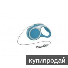 Рулетка-трос для собак до 8кг, 3м, бирюзовая, VARIO XS cord 3m