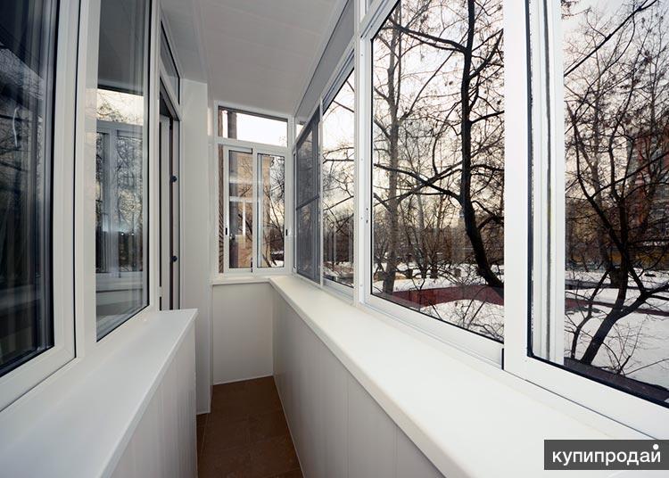 Утепление и отделка балкона, лоджии вагонкой, пластиком в Пензе