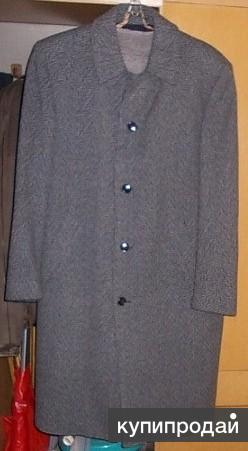 Пальто cерое (шерсть)