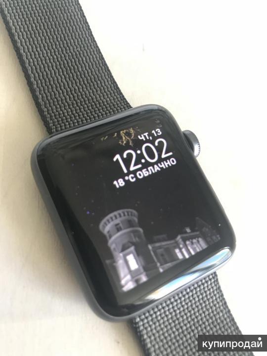Часы Apple Watch Space Gray Aluminum Series 2 42mm