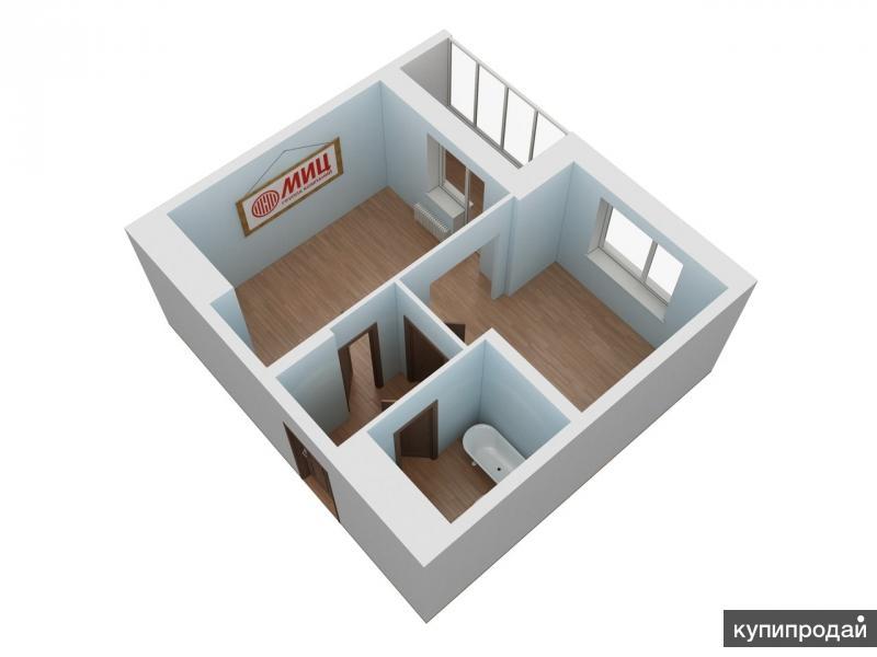 1-к квартира, 33,5 м2, 13/22 эт.
