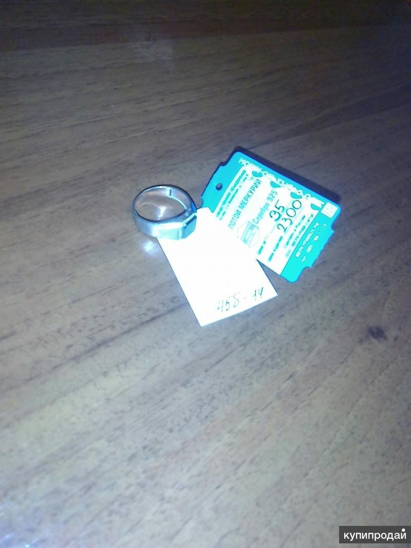 Серебряное кольцо с камнем Оникс  Снять с продажи