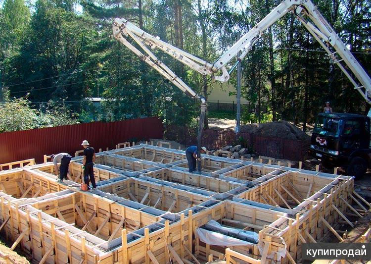 Строительство ленточного фундамента для дома
