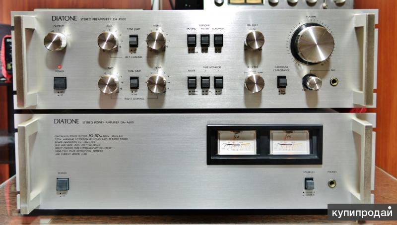 Diatone DA-P600/DA-A600  усилитель. 2 блока.