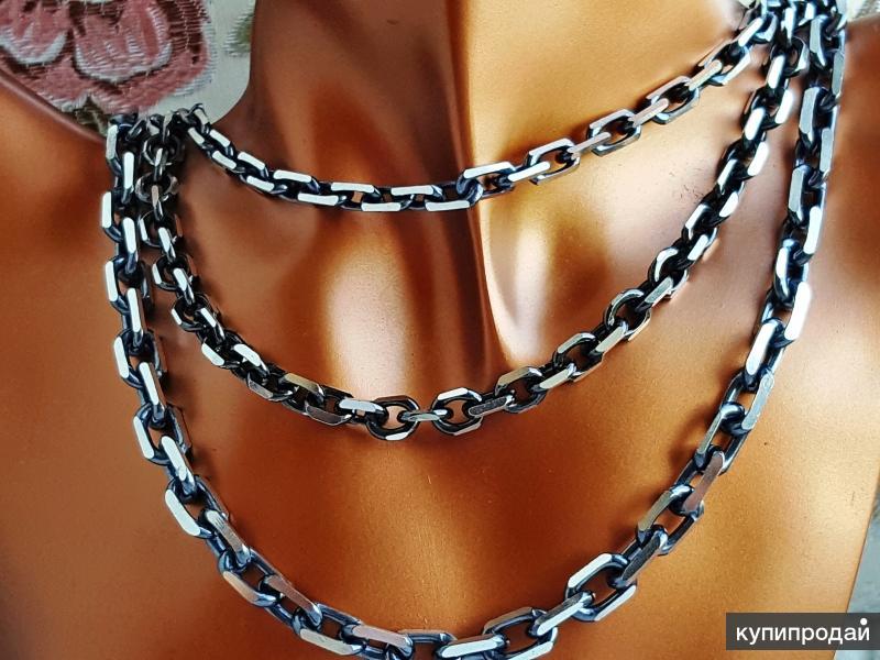 Цепи серебро якорные новые, с чернением