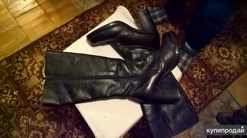 сапоги зимние кожаные женские