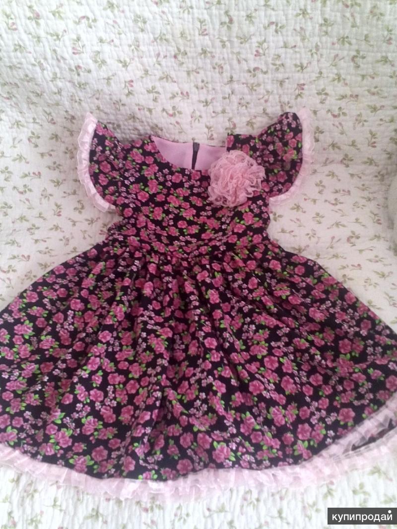 Платье летнее, р. 80, инд.пошив