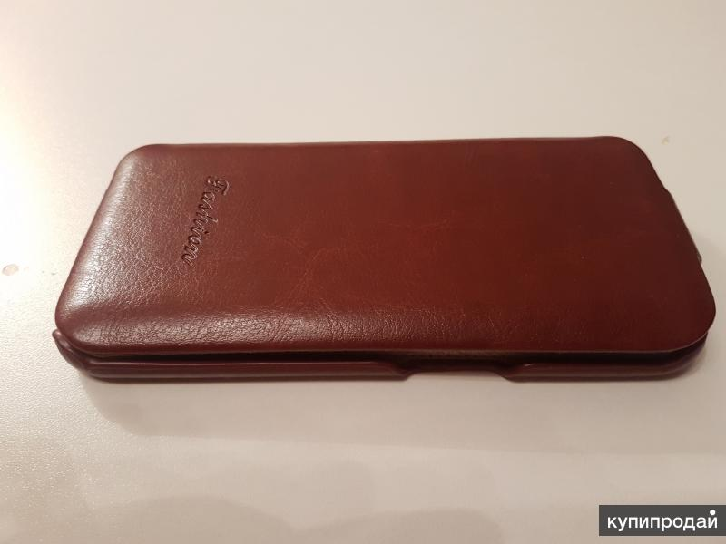 Кожаный чехол на Samsung Galaxy S6 edge