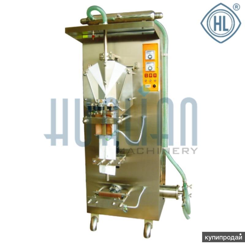 Аппарат фасовки и упаковки для жидких продуктов сметана, молоко автомат