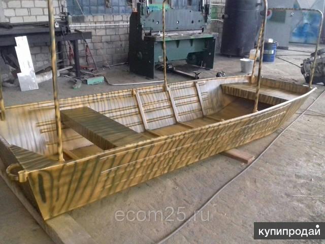 Алюминиевая моторная лодка, плоскодонка под мотор