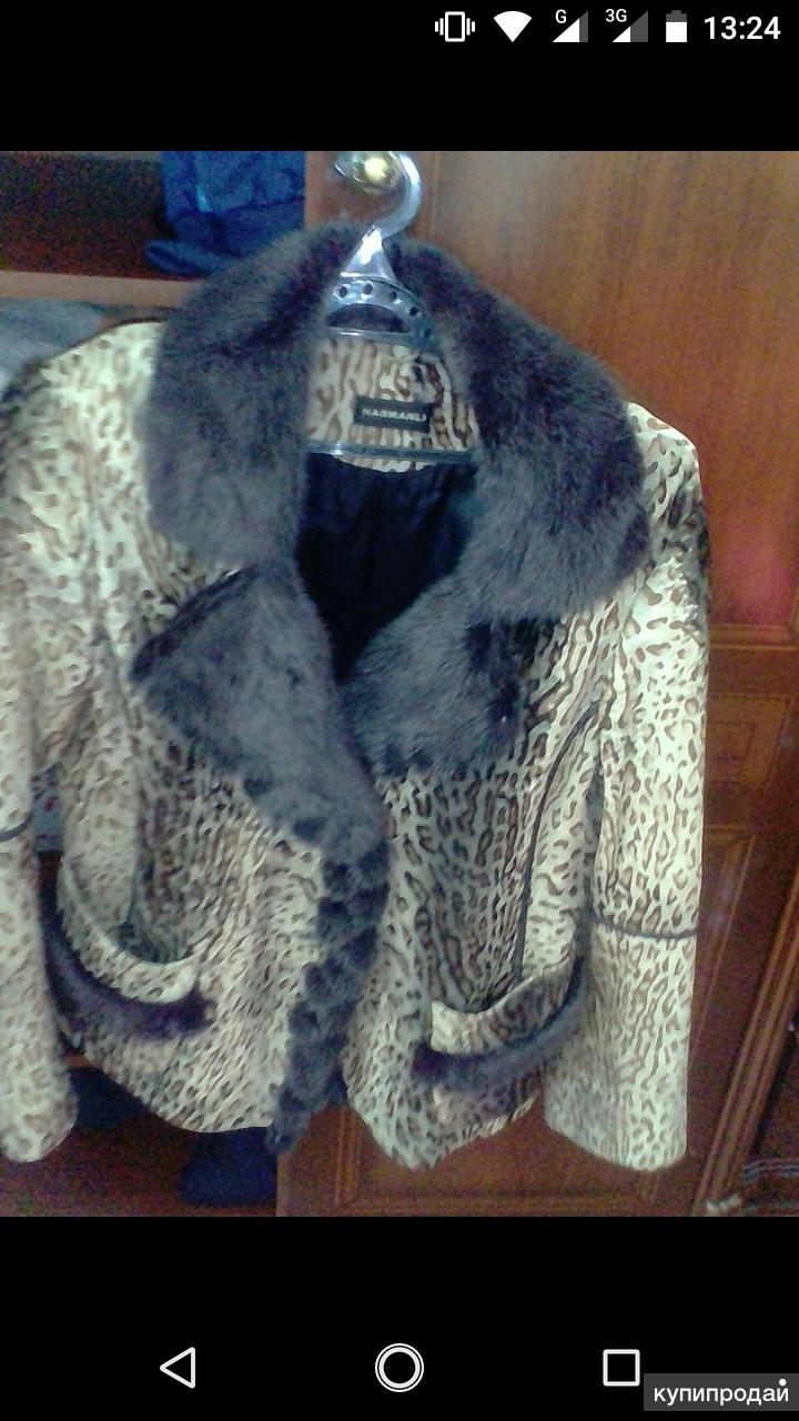 Куртка женская телячья кожа мех норка