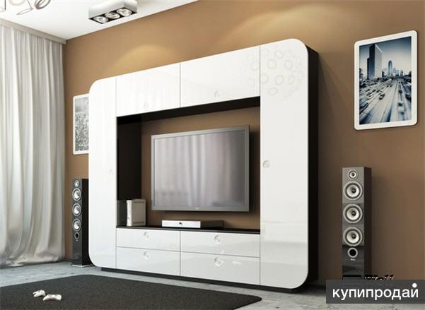 Стенка белая iMeb Мебель Неман в hi-tech ®