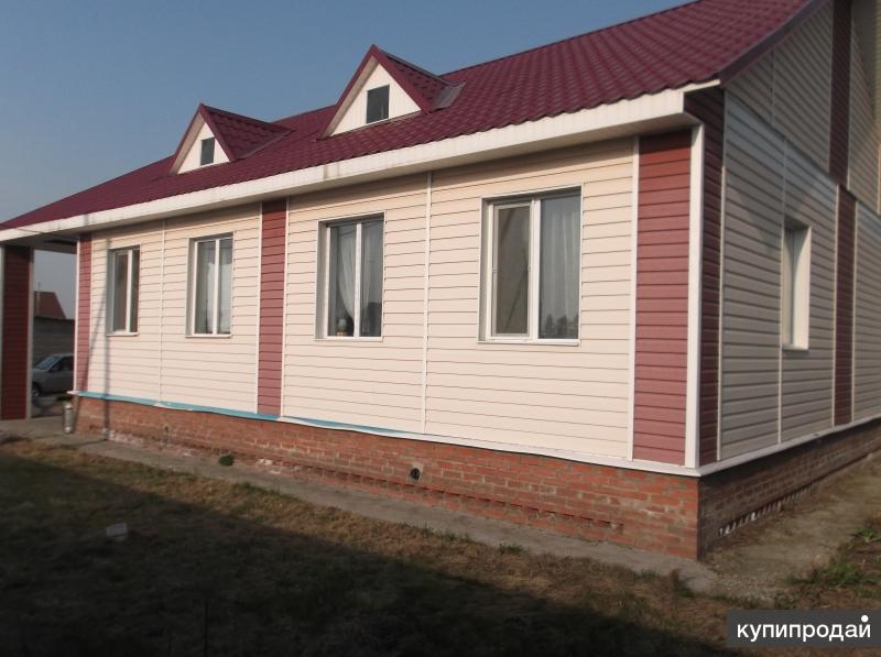дом в пригороде Омска 7км. от Первомайского рынка.