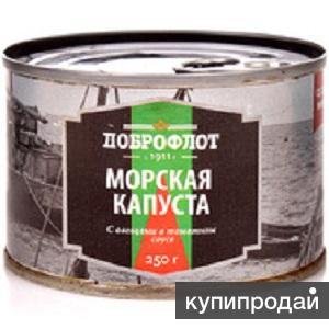 """Продам оптом: Морская капуста с овощами в томатном соусе """"Доброфлот"""""""