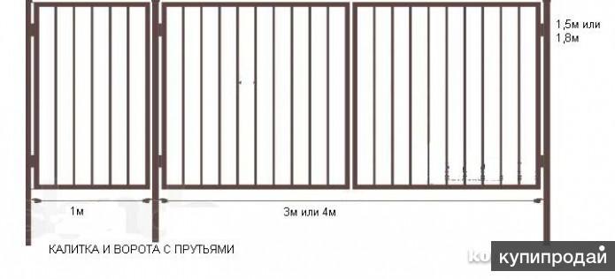 Металлические ворота и калитки в Йошкар-Оле