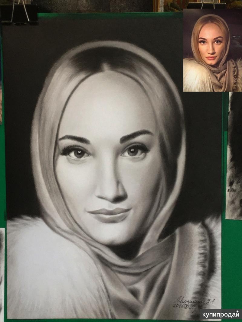 использованием нарисовать портрет по фотографии чем лучше простом натюрморте, изображающем