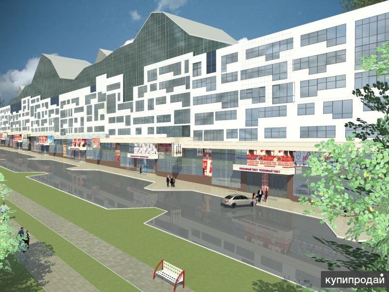 Коммерческое помещение в центре города, парковая зона, новостройка, первая линия
