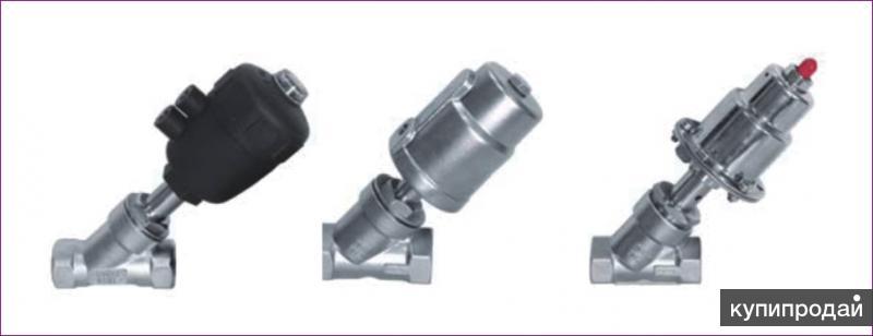 Клапаны наклонно-отсечные с пневматическим приводом