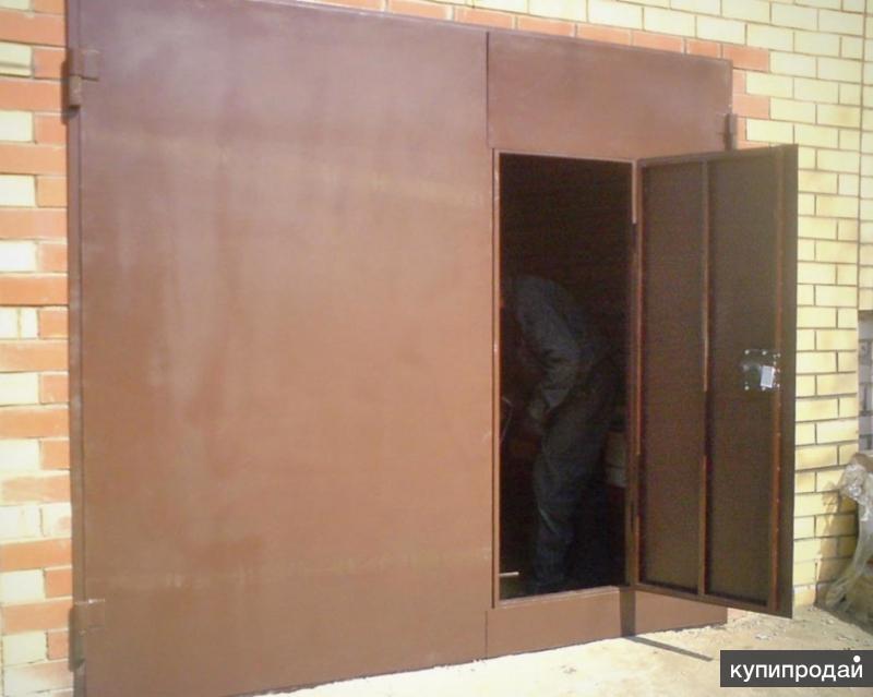 дешевые металлические двери гаражные ворота
