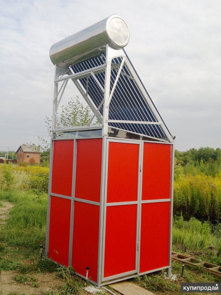 Нанотехнологичный душ с солнечным коллектором