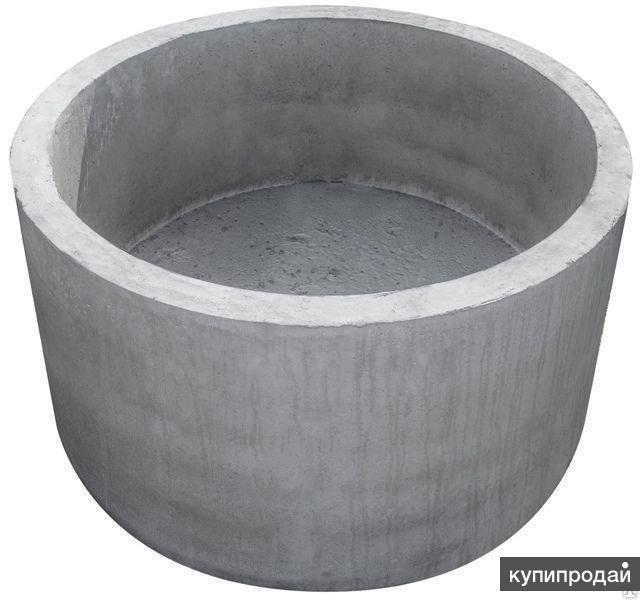 Бетонное кольцо с дном /стакан жби