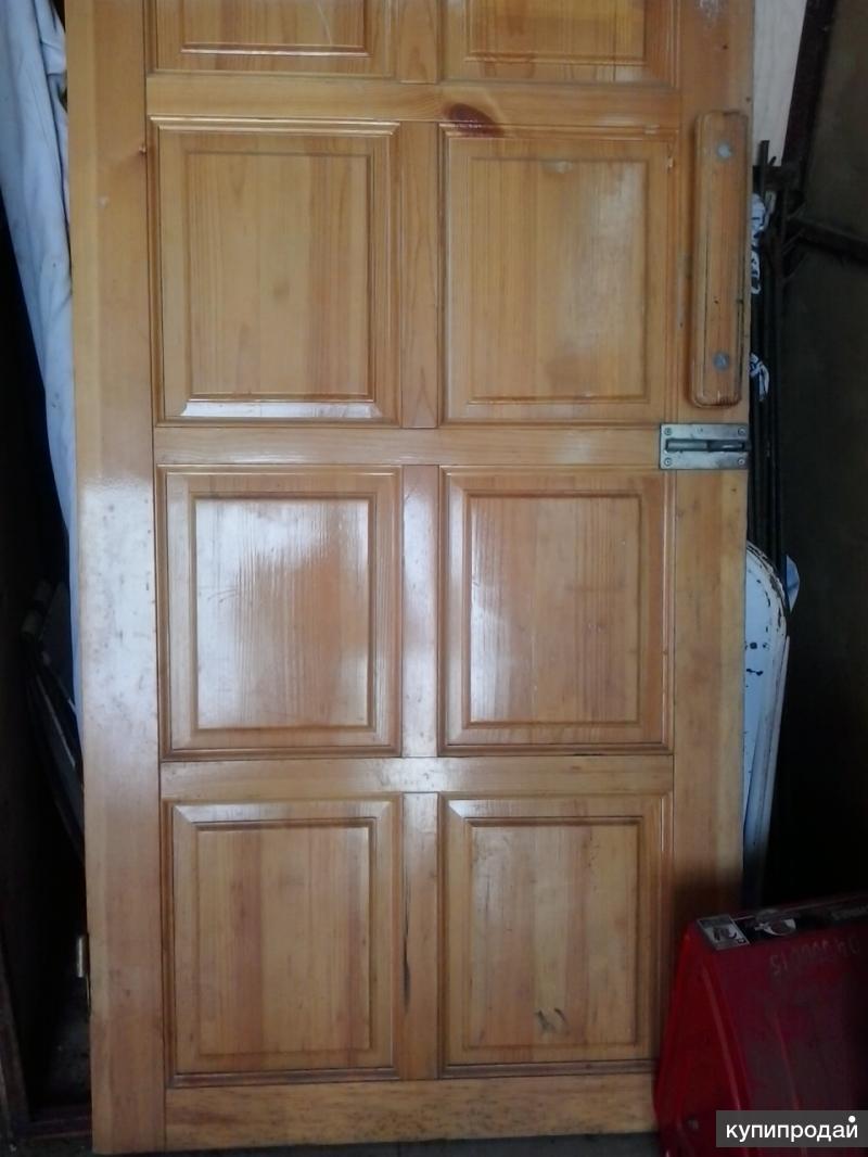 Двери деревянные бу филенчатые