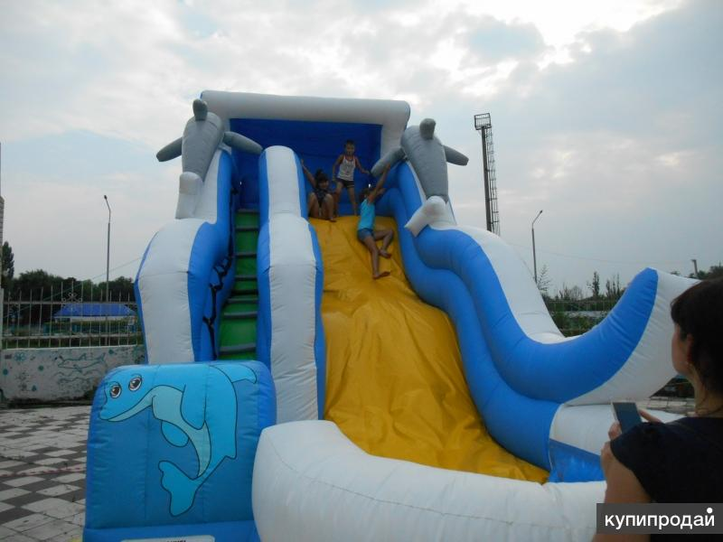 Горка-Батут с бассейном (пр.Россия) +Подарки