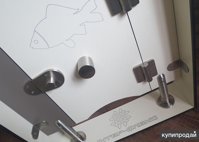 Сантехническая монтажная фурнитура для сантехкабин и душевых перегородок