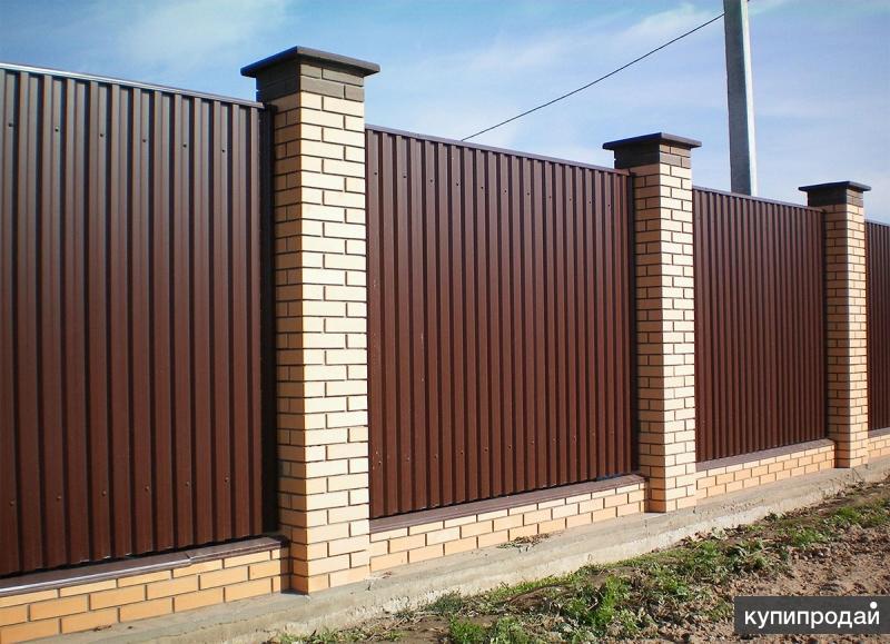 Заборы и ворота из профнастила. Красноярск и близлежащие районы