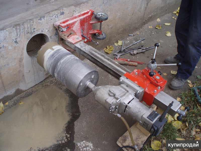 Алмазное сверление. бурение отверстий в бетоне, армированном бетоне, железобетон