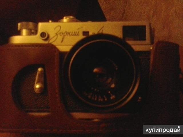 Редкость фотоаппарат Зоркий 4 1956г.в. чехол кожа