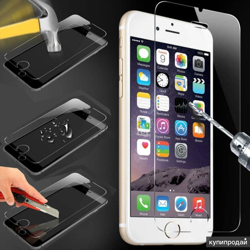Защитное стекло для Apple iPhone SE/5/6/7/8/X, 6S Plus/7/8 Plus