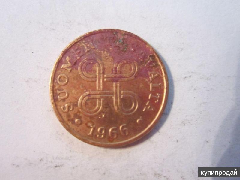 1 пенни 1966 Финляндия