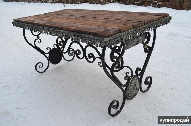 Садовый стол кованный