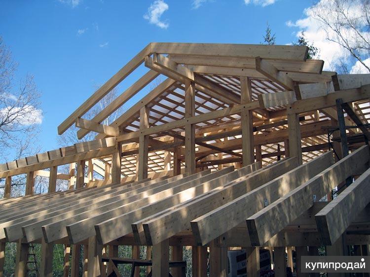 Строительство крыши мансарды, отделка карнизов фронтонов в Пензе