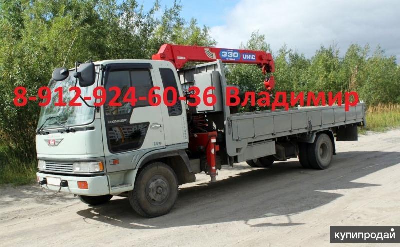 Услуги манипулятора HINO RANGER  в Тюмени г/п5 тонн.