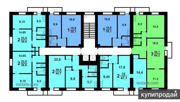 Комната в 3-к 14 м2, 8/12 эт.