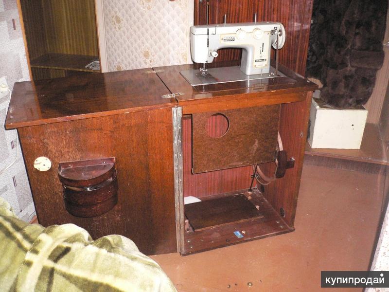 швейная машинка чайка 3 с тумбочкой