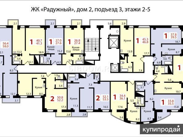 Соколовская 76а 2-к квартира, 58 м2, 10/17 эт.